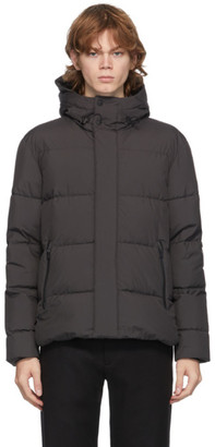 Herno Grey Down Gore-Tex Stadium Jacket
