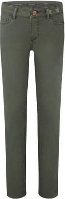 DL1961 Girl's Chloe Skinny Raw Hem Side Stripe Skinny Denim Jeans, Size 7-16