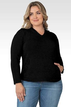 Standards & Practices Amelie Cashmere Hoodie Sweater in Black Size 1X
