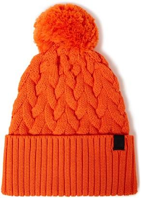 Rag & Bone Aran Pompom-embellished Cable-knit Merino Wool-blend Beanie