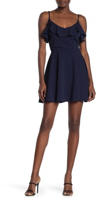 Rowa Ruffle Skater Dress