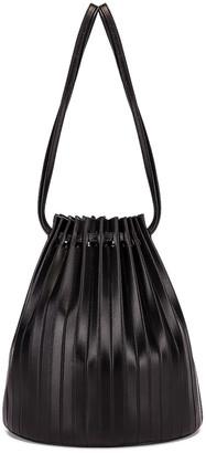 Mansur Gavriel Pleated Bucket Bag in Black   FWRD
