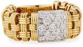 Roberto Coin 18k Mini Appassionata Diamond Bar Ring