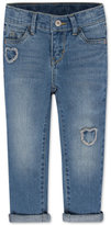 Levi's Distressed Hearts Skinny Jeans, Toddler & Little Girls (2T-6X)