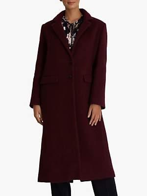 Fenn Wright Manson Petite Esmee Wool Blend Coat, Burgundy