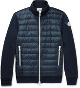 Moncler - Cotton-jersey And Quilted Shell Down Jacket