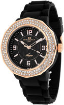 Oceanaut Acqua Womens Rose-Tone & Black Rubber Strap Watch