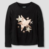 Girls' Long Sleeve Star Graphic Tee Shirt Cat & Jack - Black Star