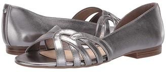 Sam Edelman Belinda (Pewter New Metal Grain) Women's Flat Shoes