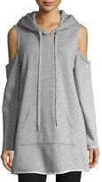 KENDALL + KYLIE Cold-Shoulder Long-Sleeve Hooded Sweatshirt
