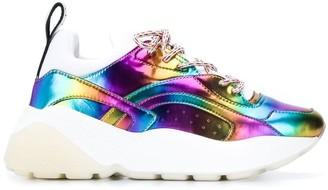 Stella McCartney Eclypse metallic rainbow sneakers