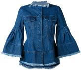 Marques Almeida Marques'almeida - flared sleeve denim jacket - women - Cotton - XS
