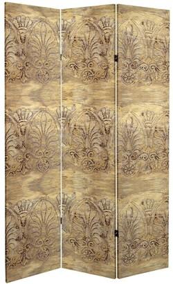 Oriental Furniture 6 ft. Tall Baroque Flourish Canvas Room Divider
