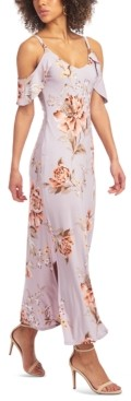 Rachel Roy Off-The-Shoulder Floral Maxi Dress