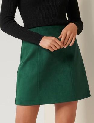Forever New Scarlette Seamed Suedette Mini Skirt - Deep Green - 10