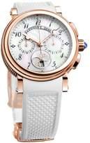 Breguet Marine 8827br/52/586 Chronograph 18K Rose Gold Ladies Watch