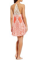 In Bloom by Jonquil Mystic Paisley Crochet Racerback Chemise