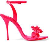 Sophia Webster Lilico Appliquéd Patent-leather Sandals - Bright pink