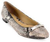 Lauren Ralph Lauren Farrel Snake Print Leather Flats