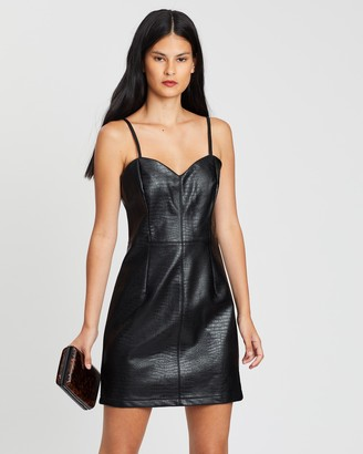 Miss Selfridge Cami Crocodile Mini Dress