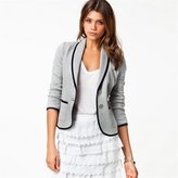 Hittime Lady Casual Office Commuting Long Sleeve Button Blazer Suit Jacket