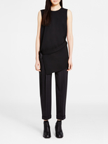 DKNY Asymmetric Shirt With Side Slit And Belt