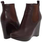 MICHAEL Michael Kors - Jessie Wedge Bootie (Mocha Madras) - Footwear