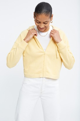 WSLY The Ecosoft Cropped Zip Up Hoodie