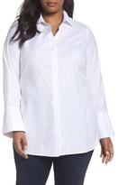 Foxcroft Plus Size Women's Non-Iron Stretch Poplin Tunic