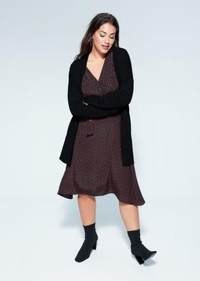 MANGO Violeta BY Knit long cardigan cherry - XS - Plus sizes