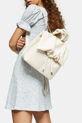 Topshop Ruched Flap Backpack