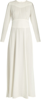Bella Freud May Day long-sleeved satin-backed crepe dress