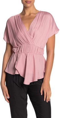 Do & Be Surplice Elasticzied Waist Blouse