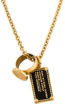 Marc by Marc Jacobs Ring & Dog Tag Pendant Necklace