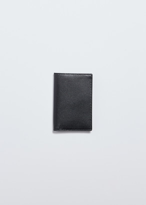 Comme des Garcons Women's Classic Leather Bi-Fold Wallet in Black Calf Leather