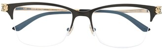 Cartier Panthere rectangular frame glasses