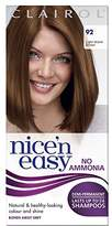 Clairol Nice'n Easy Semi-Permanent Hair Dye No Ammonia 92 Light Warm Brown