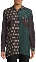 Lanvin Women's Haut Printed Button-Down Shirt