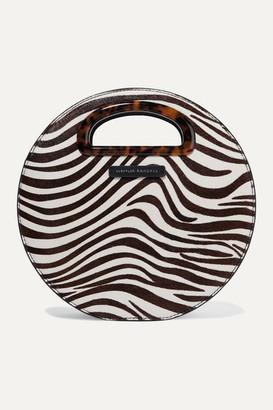 Loeffler Randall Indy Zebra-print Calf Hair Shoulder Bag - Ivory
