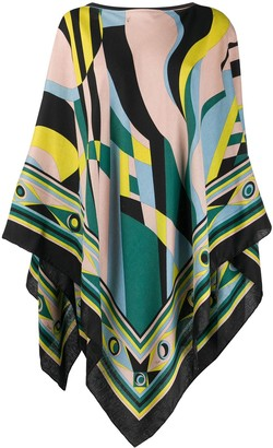 Emilio Pucci Abstract-Print Poncho