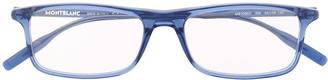 Montblanc Transparent Square-Frame Glasses