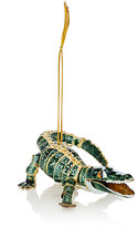 Value Arts Co.,Inc Value Arts Co, Inc Cloisonné Alligator Ornament-GREEN