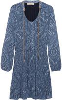 MICHAEL Michael Kors Devonshire Printed Georgette Mini Dress - Blue