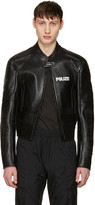 Vetements Black Leather Racing Jacket