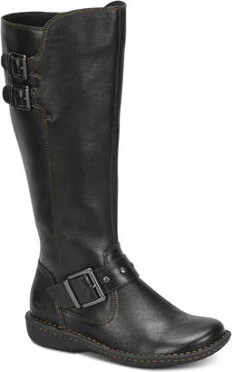 b.ø.c. Oliver Wide Calf Riding Leather Boots Women Shoes