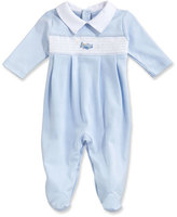 Kissy Kissy Fly Away Collared Pima Footie Pajamas, Blue, Size Newborn-9 Months