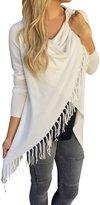 jasmine214 Women's Knitted Tassels Coat Long Sleeve Cardigan Loose Sweater Outwear