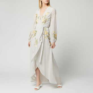 Hope & Ivy Women's Embroidered Wrap Maxi Dress