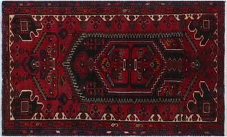"World Menagerie One-of-a-Kind Drey Handmade Kilim 3'9"" x 6'3"" Wool Red/Blue Area Rug"