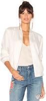 Bobi BLACK Bomber Jacket in White